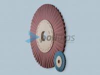 Discos de V em Lixa, da categoria Abrasivos da Polibras. Permite furos com diversos tamanhos e forma. Lixas: Tela X e Tela J.