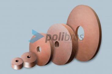 Mós Abrasivas e de Acabamento para acabamento de metal, com diâmetro, grão e formato a definir pelo cliente conforme as suas necessidades.
