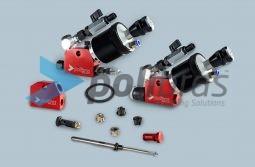 Pistolas para Pasta de Polir de alta pressão para pulverização de pasta de polir líquidas e respectivas peças de reposição.